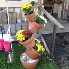 Tree Trunk Flower Pot