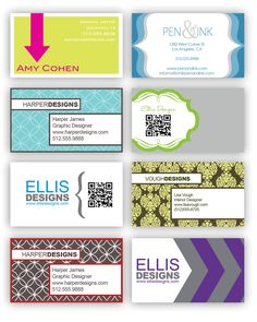 Fun business card design with QR code.