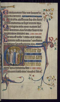 Psalter, Three clerics chanting; shepherd trumpeting and fox marginal decoration, Walters Manuscript W.79, fol. 100r by Walters Art Museum Illuminated Manuscripts, via Flickr