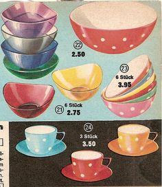 1963 tableware