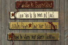 Primitive Wood Signs | Your Saying Custom Primitive Rustic Wood Sign Gift OOAK | eBay