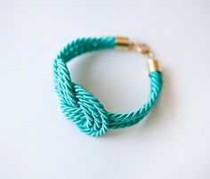 Accessorize for your day off with this bright turquoise Knot Bracelet by pardes israel. #HuesofHanover