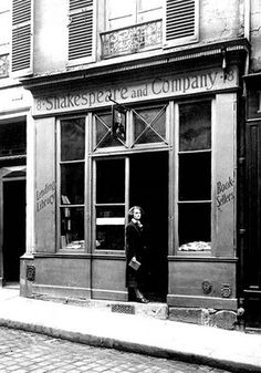 Shakespeare and Company at 12 rue de l'Odéon, Sylvia Beach Out Front