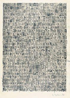 Jasper Johns - Grey Alphabet