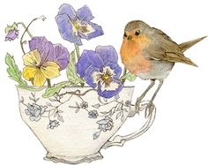 The Tea Party: Mr. Robin by Laura Bushinski Illustration