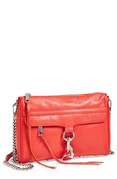 Love this red Rebecca Minkoff crossbody for work and the weekend.