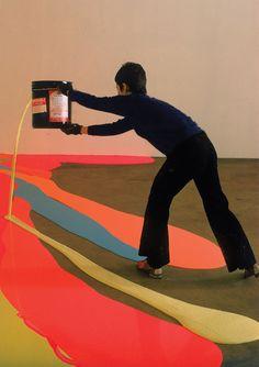 Lynda Benglis, latex floor painting, 1969