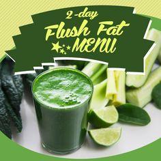 2- Day Flush Fat Menu #flushfat #detox #cleanse