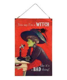 Look at this #zulilyfind! Witch Magnet Board #zulilyfinds