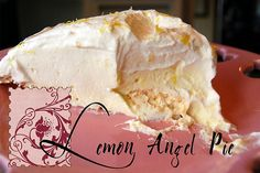Lemon Angel Pie, Gluten free...a mouth watering dessert