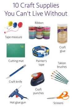 10 craft supplies you can't live without! What are your top picks?