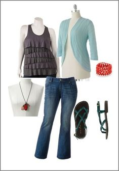Plus Size outfits | Fashion Boards on a Budget: Sassy Plus Size Outfits - Happy Money ...