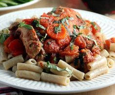 Get ready for an easy chicken in tomato sauce recipe with this Rustic Italian Chicken and Vegetables dish. This recipe for chicken thighs with chunky tomato sauce takes basic chicken and veggies and adds a rustic Italian-inspired flair.