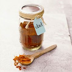 Create the perfect spice rub for Dad for Father's Day. Combine 2 tbsp paprika, 2 tbsp dried parsley, 4 tsp ground hot chili powder, 1 tsp ground cumin, 2 tsp dried oregano, 1 tsp ground coriander, 1-1/2 tsp kosher salt, and 1 tsp cracked black pepper.