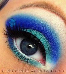 nail, makeup geek, makeup eyes, eye makeup, blue flowers, eyeshadow, color, makeup looks, blues