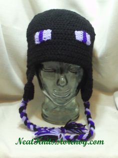Minecraft Enderman Hat - Crochet....Could figure this pattern out quite easy