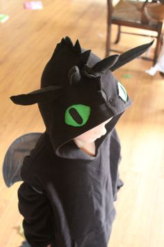 Toothless from How To Train Your Dragon...someone's kid has to wear this! Or maybe penny lane could?