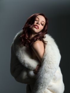 White Mink & Fox Fur Coat