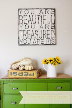 You Are Beautiful  Hand Painted Sign by TheHouseofBelonging, $100.00  great for babies room GIFT