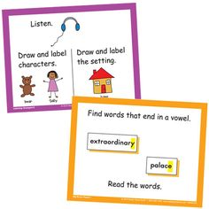 Really Good Stuff - Literacy Work Station Task Cards
