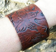 Beautiful Butterfly Cinnamon Color Polymer Clay Bracelet