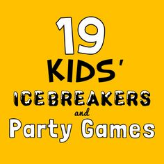 Make any birthday bash a hit with these fun icebreakers & party games.