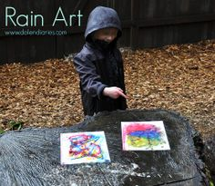 Painting IN the rain!