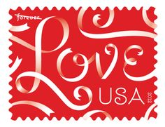 red love stamp from us