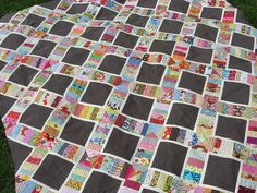 X string quilt - great for scraps!