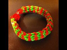 DOUBLE HEXAFISH Rainbow Loom bracelet. Designed and loomed by Cheryl Mayberry. Click on photo for YouTube tutorial.
