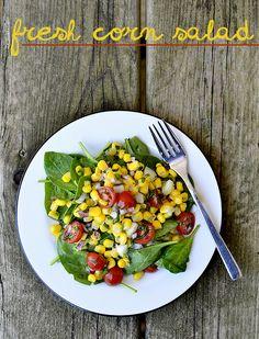 Use fresh farmer's market produce to make this tasty Fresh Corn Salad. Read the full post on Delish Dish: http://www.bhg.com/blogs/delish-dish/2013/06/05/a-taste-of-summer-fresh-corn-salad/?socsrc=bhgpin060703cornsalad