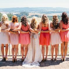 Mixed & Matched Bridesmaid Dresses | Katy Weaver Photography | Theknot.com