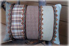 Cute fabric samples pillow idea