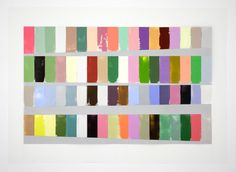 Debra Ramsay, A Year of Color Adjusted for Day Length, 40 x 60 inches, acrylic on Dura-lar, 2014