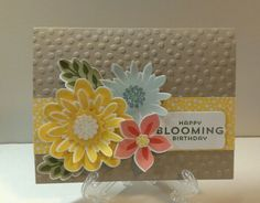 Stampin Up Flower Patch - For Sue!