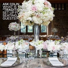"Check out Colin's Answer: What is the ""traditional"" set up for seating guests?"