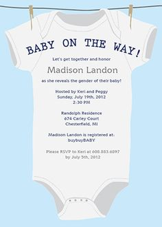 Baby Shower Invitations on Pinterest | Invitation Templates ...