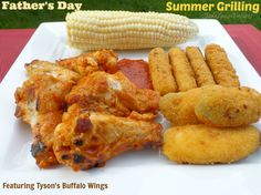 #ad Summer grilling for Father's Day with Tyson Buffalo Style Chicken Wings #MealsTogether #Shop