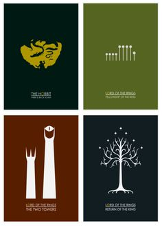 Lord of The Rings posters.