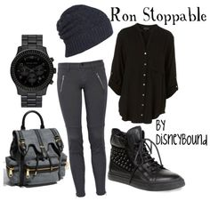 outfits, fashion, cloth, style, kim possible outfit, ron stoppabl, disney bound, disneybound, disney characters