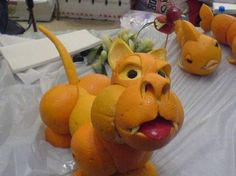 Fun With Oranges - funny animals made of the fruit