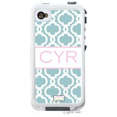cute : ) Monogrammed lifeproof cases
