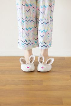 bunny slippers.