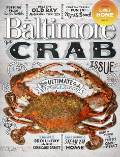 http://marykatemcdevitt.com/#/baltimore-magazine-crab-cover/  I was asked to create lettering for the cover of Baltimore Magazine's Crab Issue. We went with a weathered sign painted look for the final direction and I am pleased with how it turned out.   Client: Baltimore Magazine Art Director: Amanda White-Iseli Photography by Christopher Myers