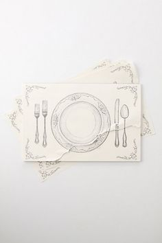 I love these disposable placemats, touch of class and then you can throw them away!