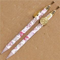 white Piggy Girl pig mechanical pencil with seal