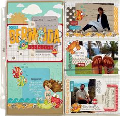 Scrapbook  Cards Today - Our Bermuda Vacation by Melyssa Connolly