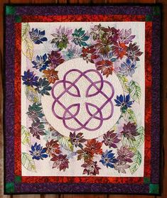 """The Celtic Knot pattern came from the book """"Celtic Quilts"""""""