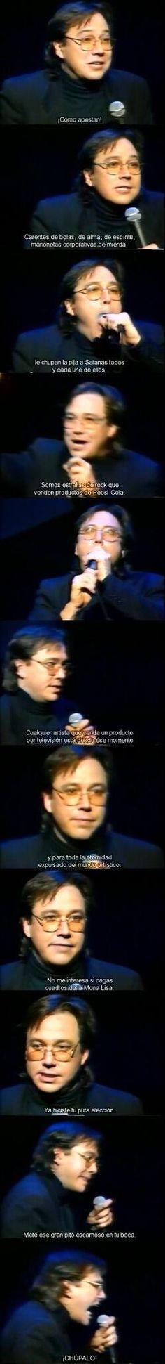 Bill Hicks sobre los artistas vendidos.