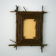 Twig Picture Frame cleanses, cabin idea, lakes, a frame, picture frames, clean lines, lake homes, pictur frame, branches